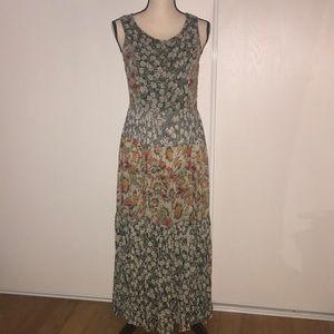 Flower print Boho maxi dress